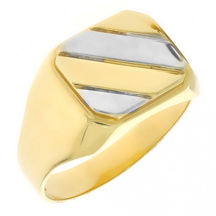 de3d80bb012 Zlatý pánsky prsteň K11.049.A3 64   Klenotnik.sk