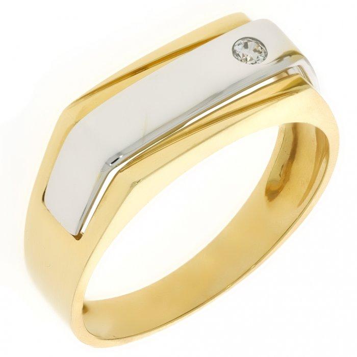 de4bcc40be4 Zlatý pánsky prsteň K12.043.A3 62   Klenotnik.sk