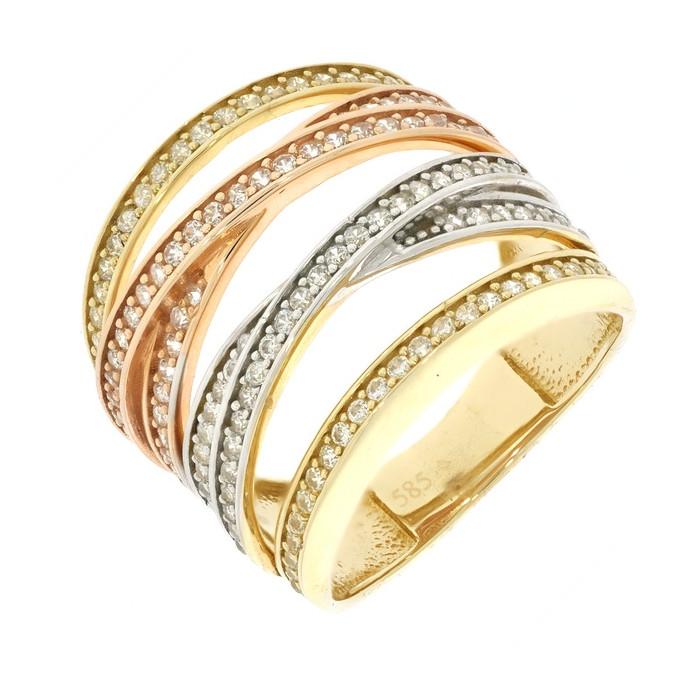 1b1f281cf Zlatý dámsky prsteň K11.394.A3 | Klenotnik.sk